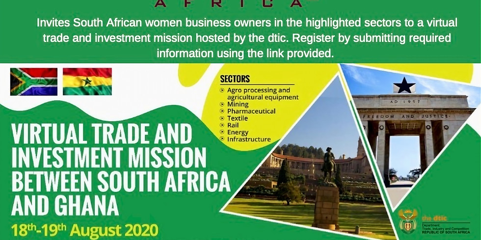 Virtual Trade & Investment Mission between South Africa and Ghana