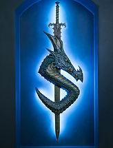 Dragonsteel Logo Bronze Sculpture Dragon