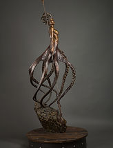 Cecaelia Sea Witch Queen of the Seas Bronze Sculpture