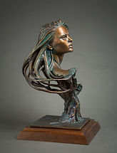 Wood Nymph Bronze Sculpture Zienna Eve