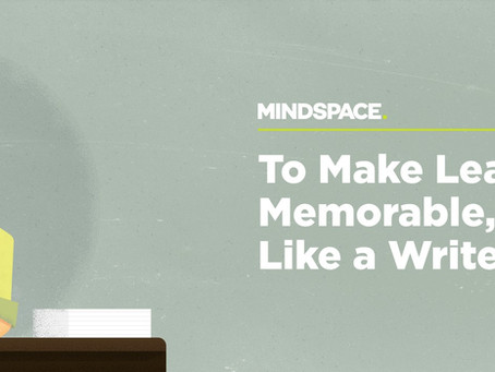 To Make Learning Memorable, Think Like a Writer