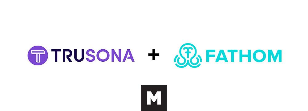 Trusona and Fathom logos