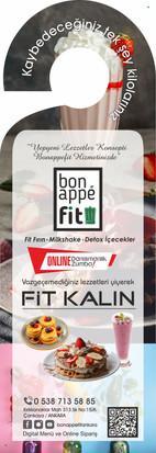 Bon Appe Fit Kapı Askı Broşür Tasarımı