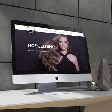 dos kuaför web sayfası tasarımı