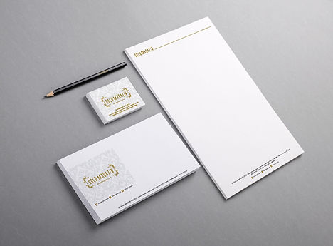 kurumsal kimlik antetli kart zarf kalem.