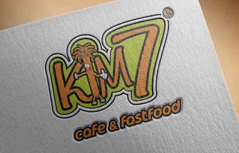 Kim7 Cafe Fast Food Logo Tasarımı