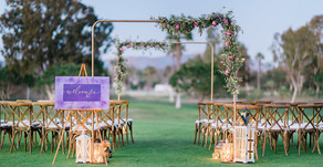 Ultra Violet Golf Course Wedding in Rancho Santa Fe