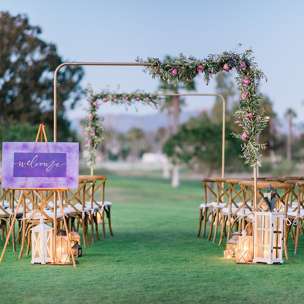 Ultra Violet Golf Course Wedding in Rancho Santa Fe