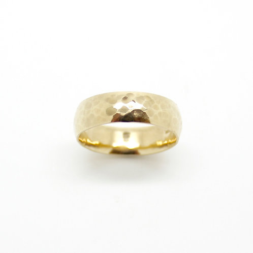 GOLD HAMMERED BAND (made to order)