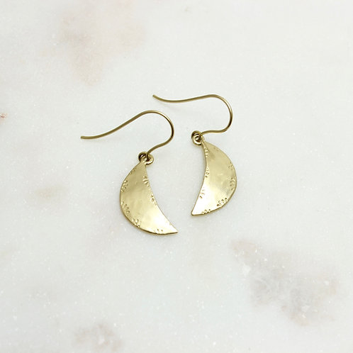 GOLD MINI LUNA EARRINGS