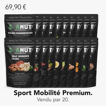 Pack Sport Mobilité Premium 20 Soanut.