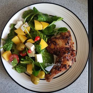 Spinach,Mango & FetaSalad