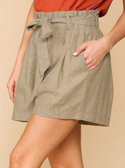 *Happy Hiking Paperbag Waist Shorts