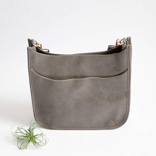 *Crossbody Messenger Bag - Grey