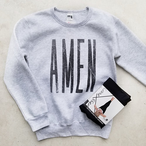 'AMEN' Heather Grey Sweatshirt