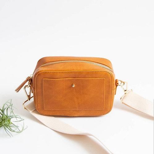 *'Camera' Crossbody Bag - Cognac