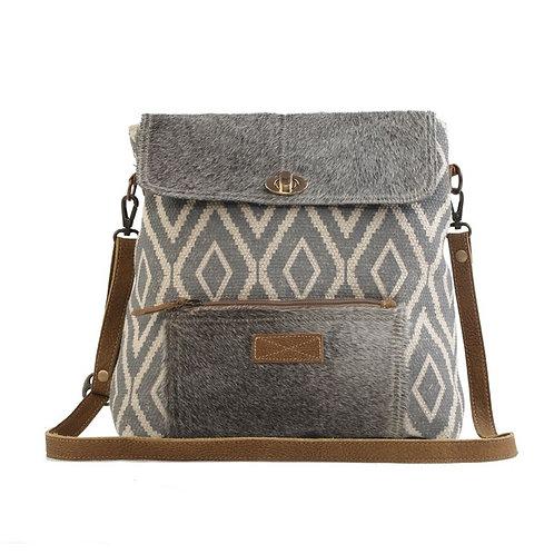 Myra Bags - Grainy Grey Shoulder Bag S-2557