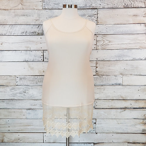 Cream Cami Lace Extender - Plus