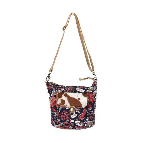 **Myra Bags Paisley Hair-On Pocket Shoulder Bag S-1352