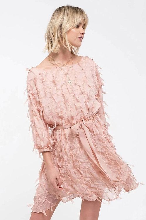 Blushingly Beautiful Fringe Dress