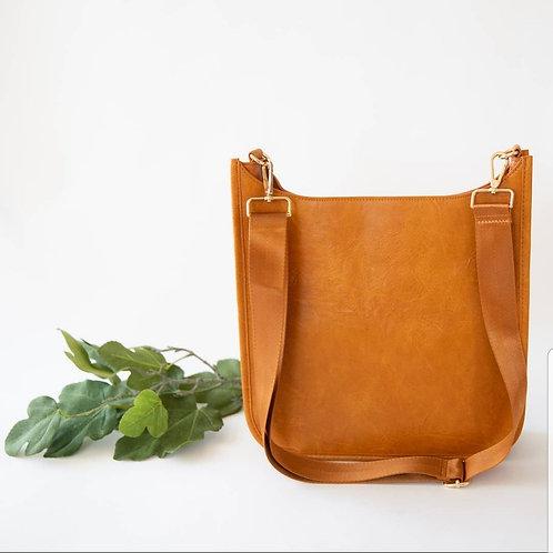 Crossbody Messenger Bag - Cognac