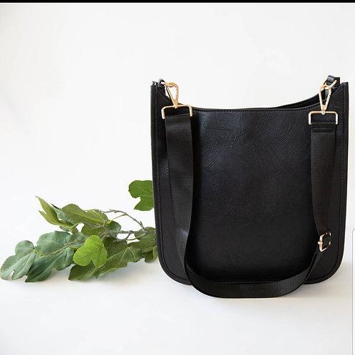 Crossbody Messenger Bag - Black
