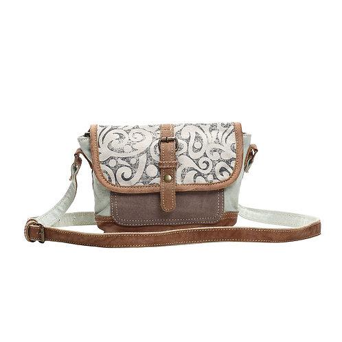 **Myra Bags Leaf Print Small & Cross Body Bag S-1153