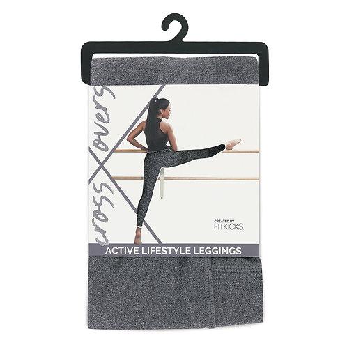 Fit Kicks Crossover Leggings-Grey