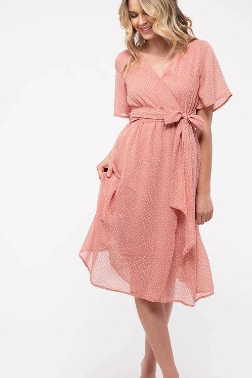 *Speckled Spring Midi Dress