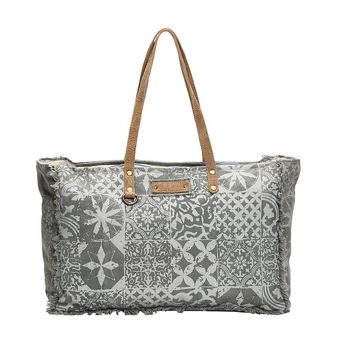 **Myra Bags Multi Print Weekender Bag S-1141