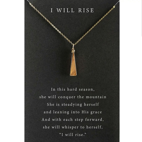 Dear Heart Necklace - 'I Will Rise'