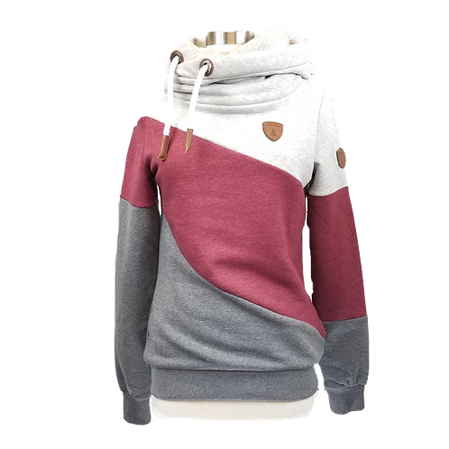 Wanakome Selene Cranberry/Grey Hooded Sweatshirt