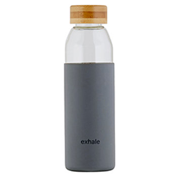 Glass Water Bottle w/ Bamboo Lid - Exhale
