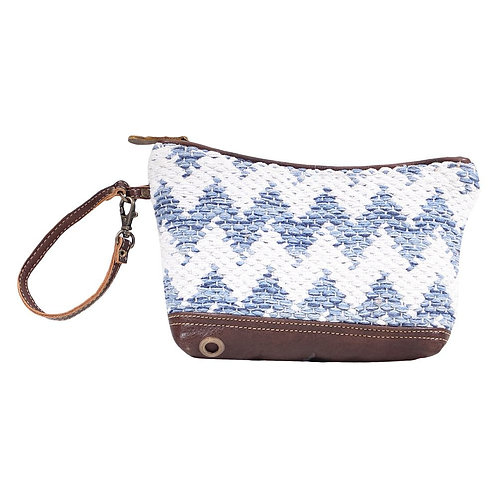 **Myra Bags Blue Crossovers Pouch S-1614