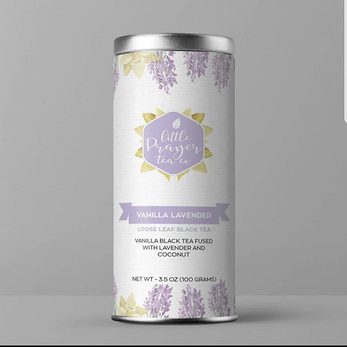 *Little Prayer Tea Co - Vanilla Lavender Loose Leaf Black