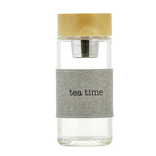 Water Bottle w/ Tea Infuser - Tea Time