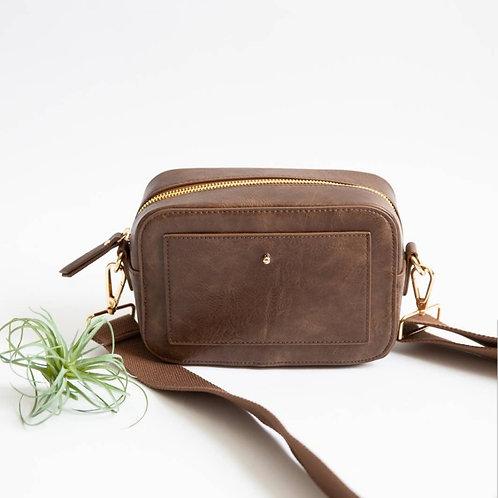 'Camera' Crossbody Bag - Brown