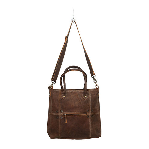 **Myra Bags Button & Stitches Leather Bag S-0727