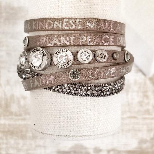 +Good Work(s) Divine Queen Wrap Bracelet