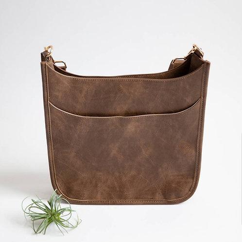 *Crossbody Messenger Bag - Brown