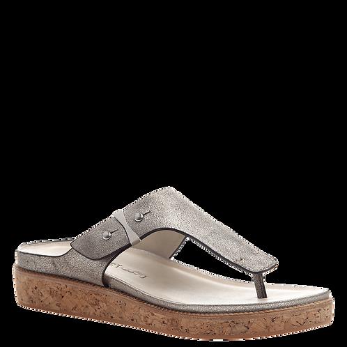 *Naked Feet Hadidd Metallic Silver Sandal
