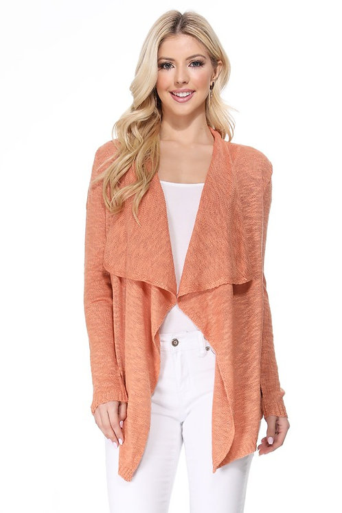 Carry On Cardigan-Salmon
