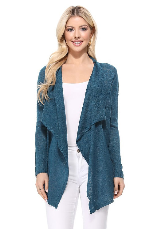 Carry On Cardigan-Teal