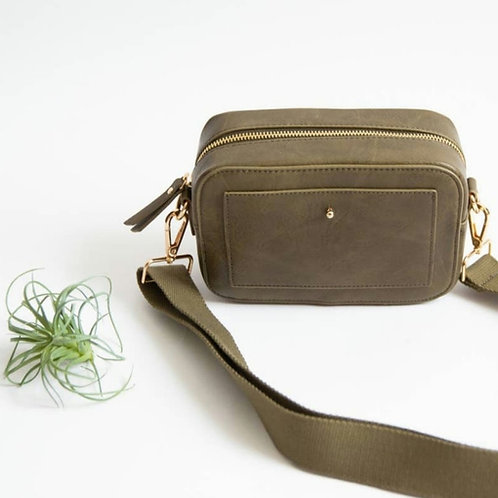 'Camera' Crossbody Bag - Olive