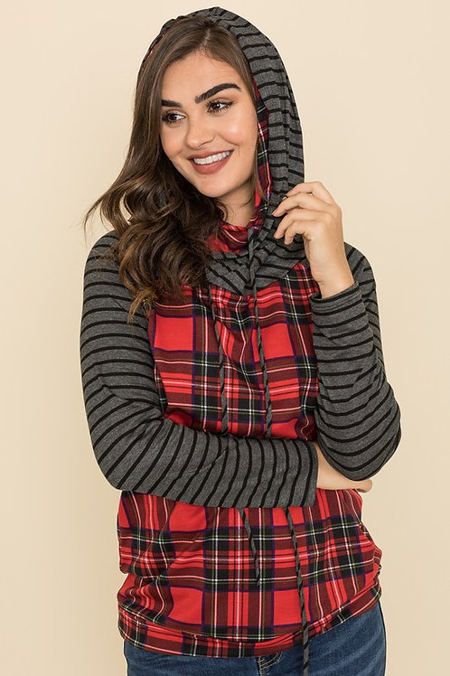 Mix and Match Hoodie Top