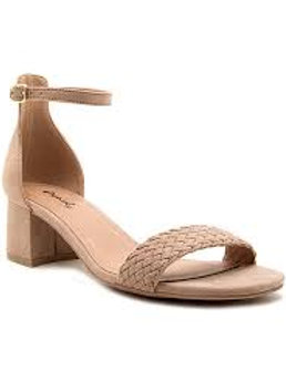 *Qupid Katz Taupe One Band Ankle Sandal
