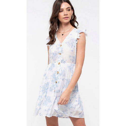 *Timeless Tiered Toile Dress