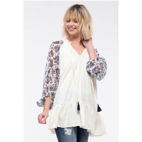 The Blooming Sleeves Top