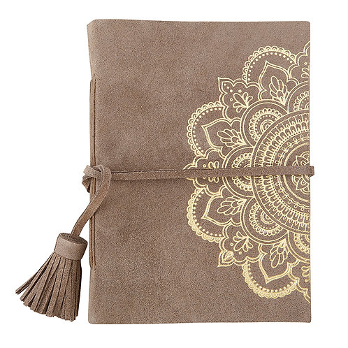*Suede Leather Journal w/ Gold Foil Imprint - Medium