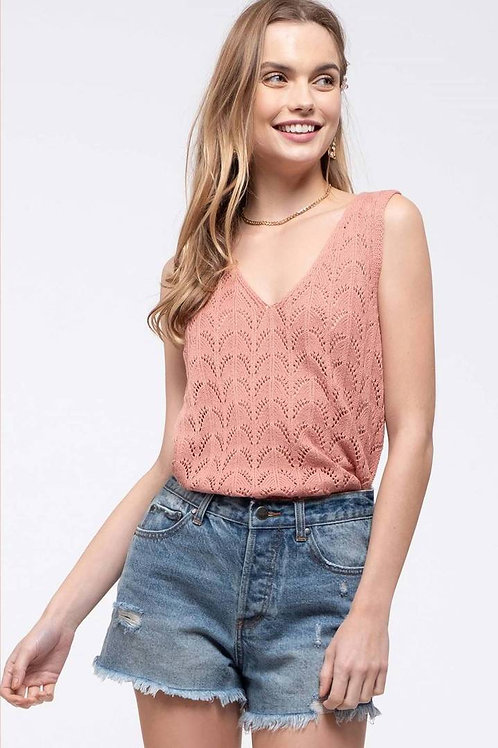*Spring Fever Top-Dusty Rose
